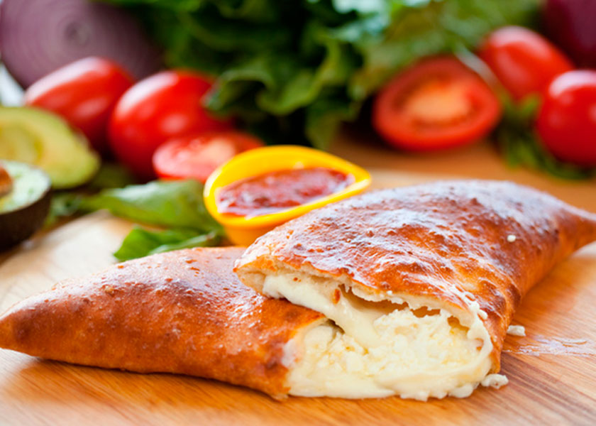 Meat feast calzone recipe