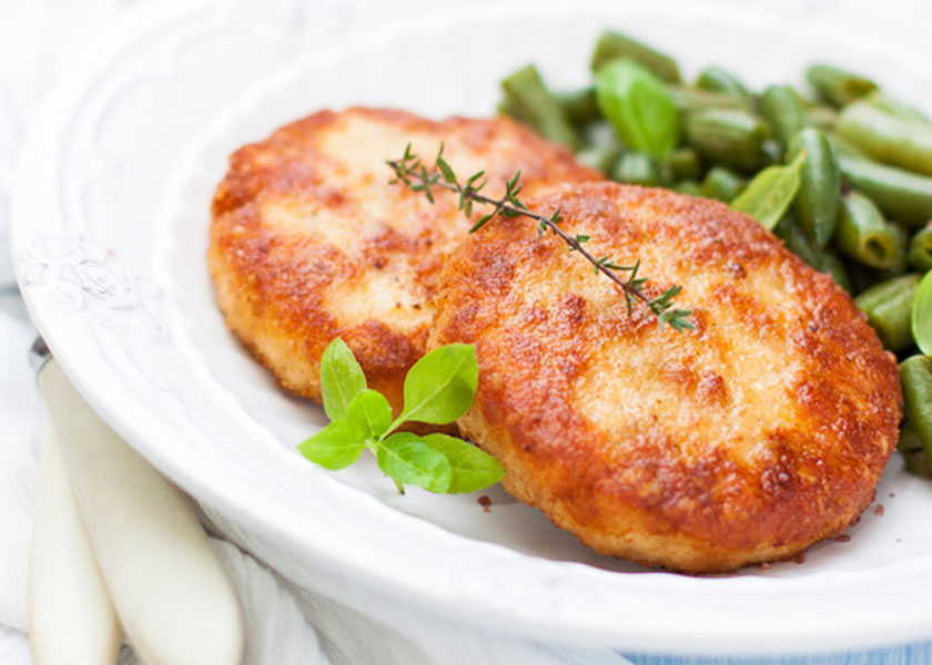 Cutlets from minced turkey with cheese recipe