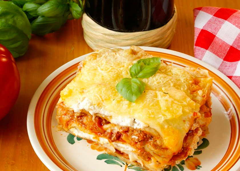 Lasagne with pumpkin recipe