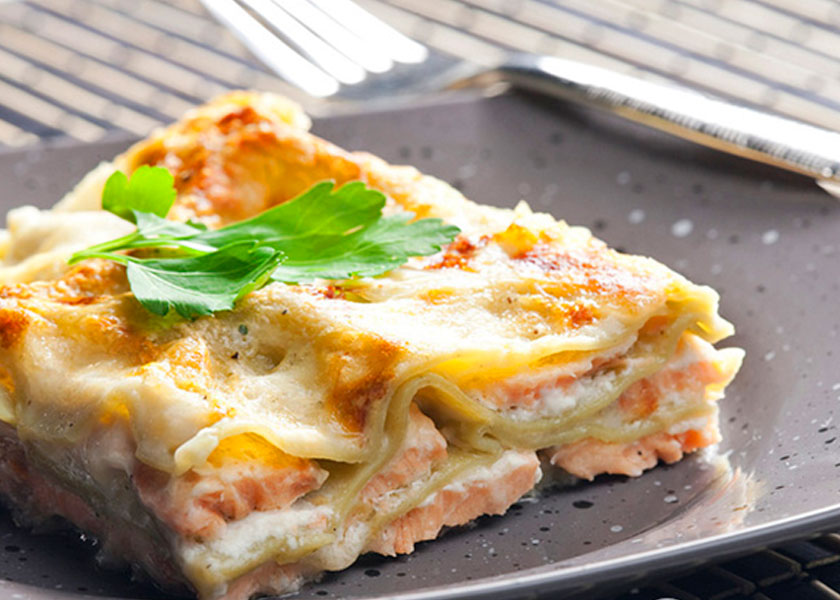 Lasagne with salmon recipe